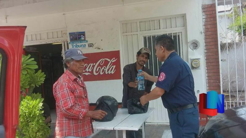 En Navojoa, bomberos activan plan anti calor