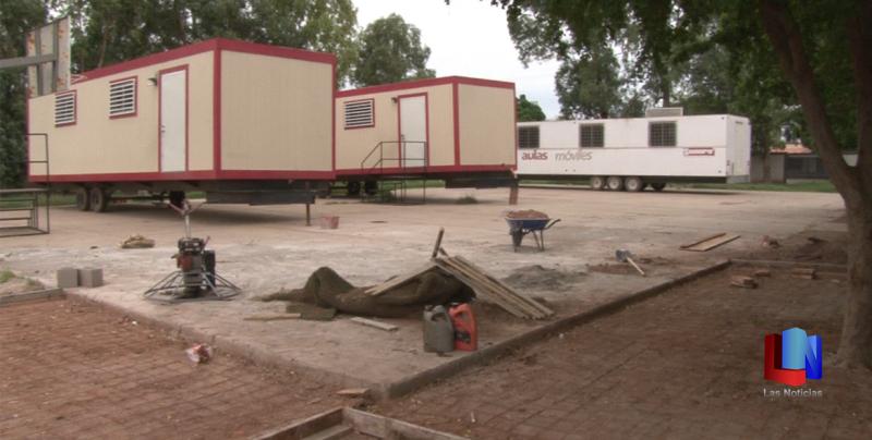 En Cajeme, escuela Recursos Hidráulicos recibe tres aulas móviles