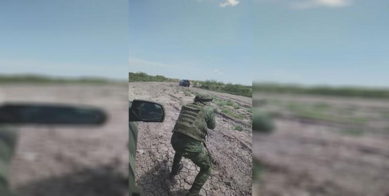Militar graba enfrentamiento contra presuntos delincuentes