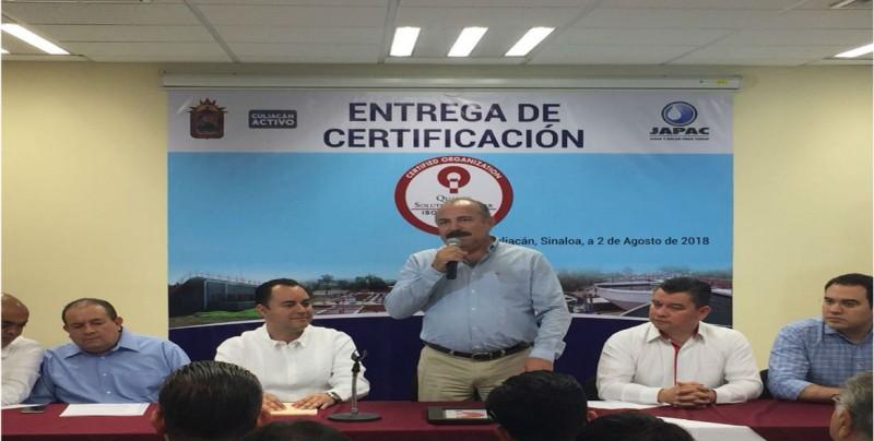 JAPAC recibe certificación ISO 9001/2015
