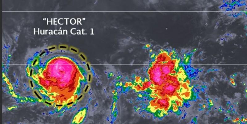 Se forma el huracán Héctor en el Pacífico