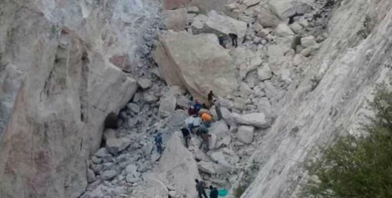 Reportan derrumbe de una mina de cantera en Hidalgo