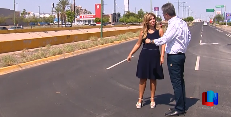 Entregan nuevas vialidades con pavimento en Hermosillo