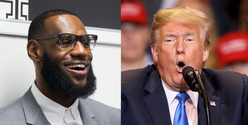 """Trump es objeto de críticas por su comentario """"racista"""" contra Lebron James"""