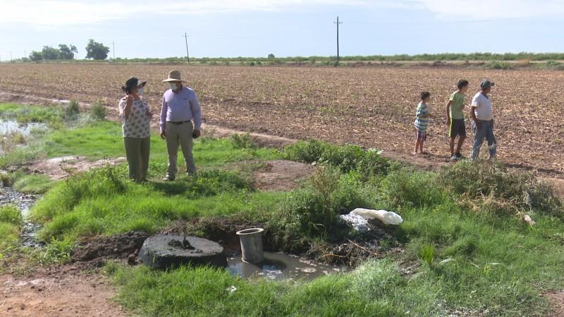 Aguas negras se derraman en tierras agrícolas de Zapotillo