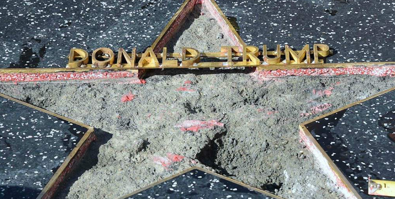 Removerán la estrella de Donald Trump del Paseo de la Fama