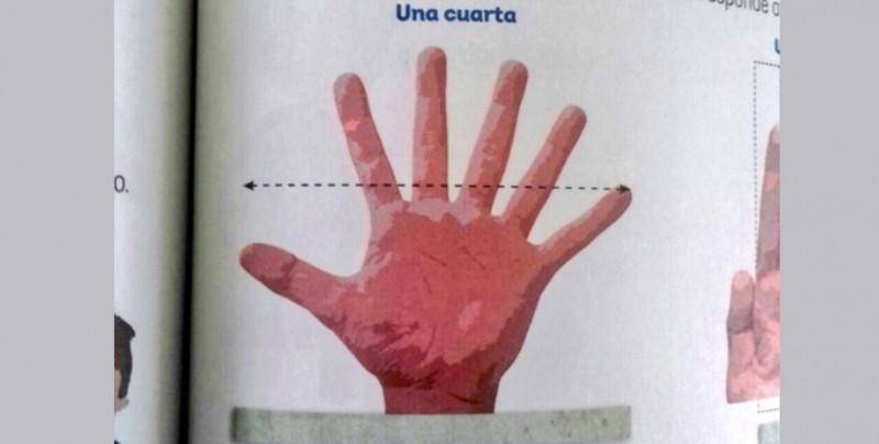 Error en libros de textos de la SEP, muestran mano con 6 dedos