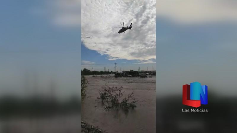Por lluvia evacuaron a civiles en Empalme