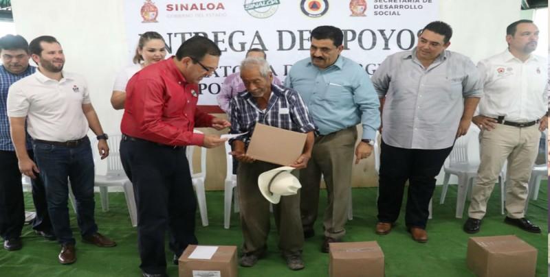 Comienza entrega de apoyos por calor en Sinaloa