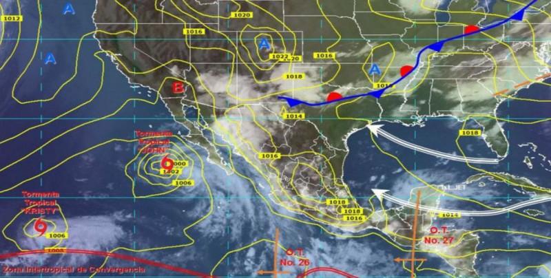 Ondas tropicales 26 y 27 provocarán tormentas