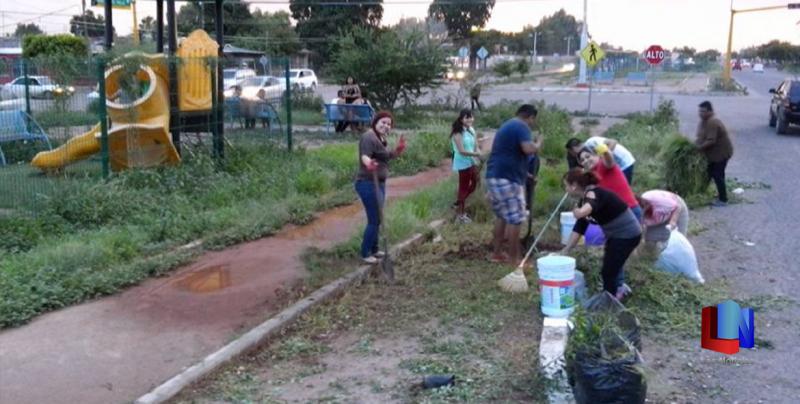 En Cajeme, ciudadanos trabajan en conjunto por espacios públicos
