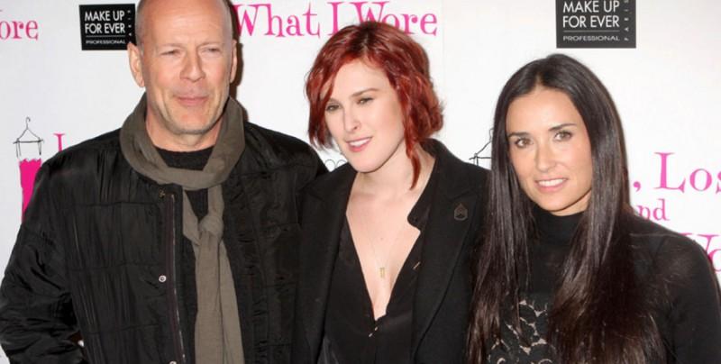 #Fotos Demi Moore y Bruce Willis juntos celebrando a su hija