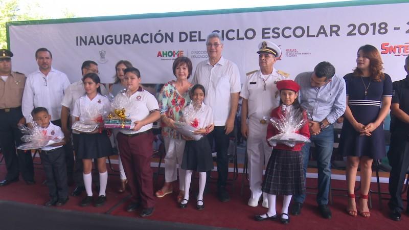 Arranca el ciclo escolar 2018- 2019 en Ahome