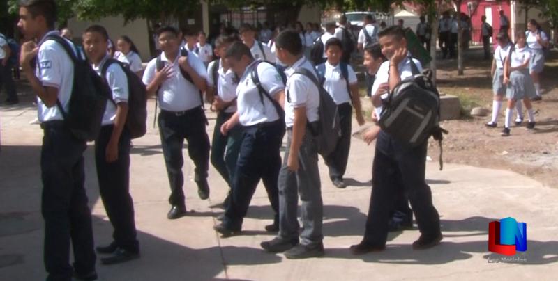 Regresan a clases 90 mil estudiantes en Cajeme