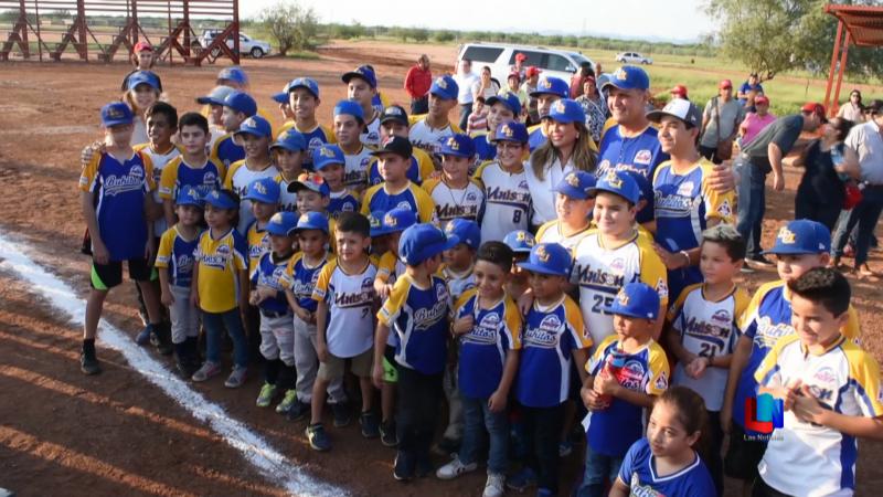 Niños beisbolistas sonorenses recibieron unidad deportiva