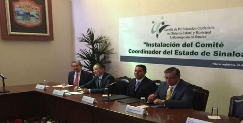 Instalan Comité Coordinador del Sistema Estatal y Municipal Anticorrupción de Sinaloa