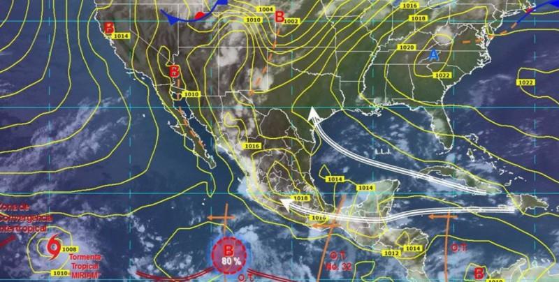 Onda tropical 32 traerá lluvias en el sur y centro del país