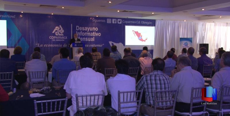 En Cajeme, vicepresidente de Centro Empresarial presenta informe