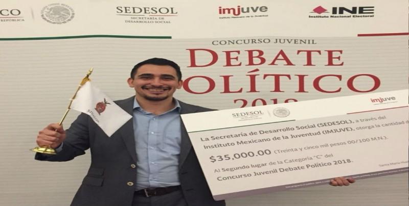 """2do lugar nacional en concurso de """"Debate Político"""" para Sinaloa"""