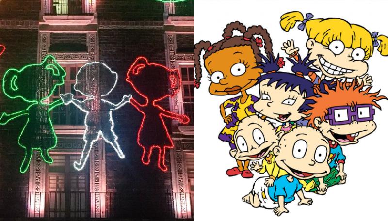 ¿Los Rugrats están en las luces del mes patrio en el Zócalo?