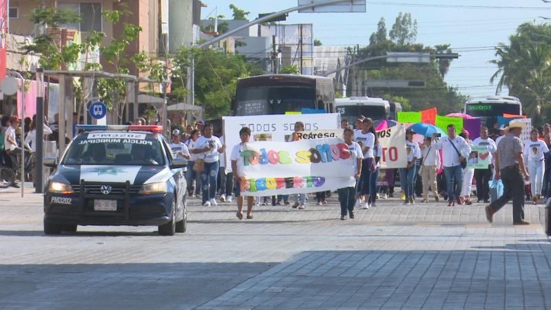 Marchan para exigir que regresen al joven Rigoberto quien desapareció el pasado 24 de agosto
