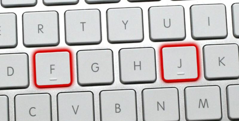 ¿Por qué las letras F y J del teclado tienen una marca en relieve?