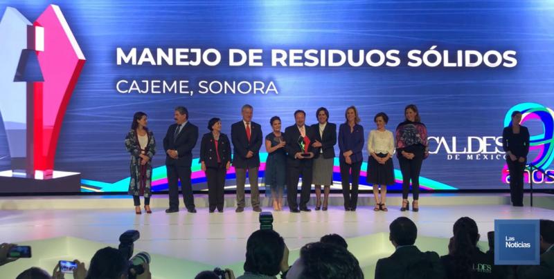 Cajeme recibió premio de Mejores Prácticas de Gobiernos Locales 2018