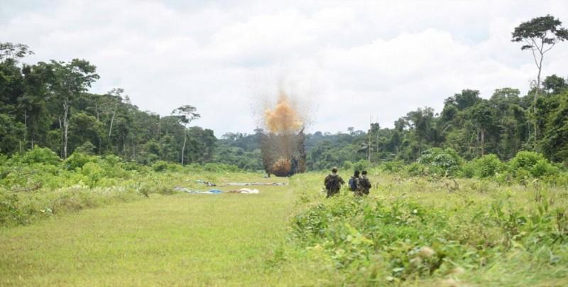 Hallan y destruyen en Honduras una pista clandestina usada para narcotráfico