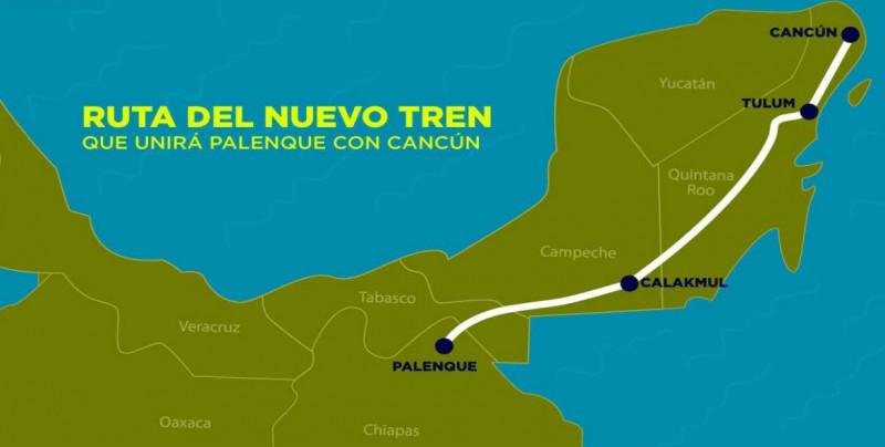 Chiapas y Tabasco iniciarán con el Tren Maya