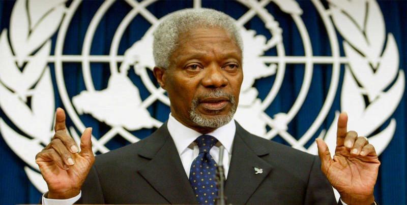 Los restos mortales de Kofi Annan llegan a Ghana, donde será enterrado