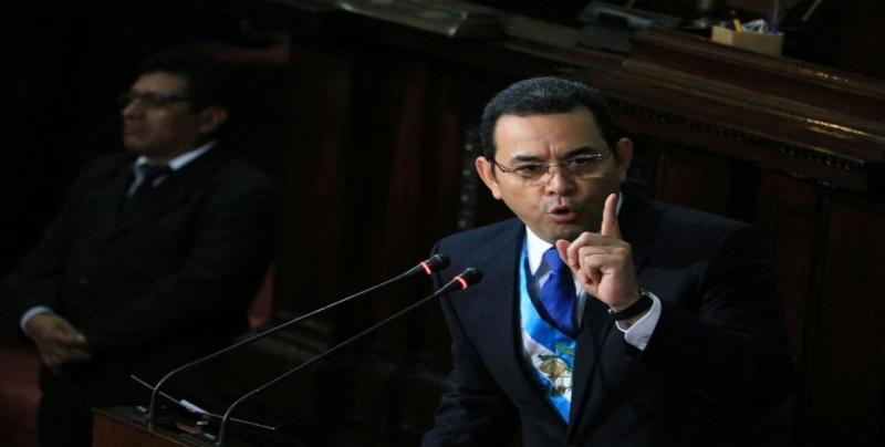 Comienza marcha para exigir renuncia del presidente de Guatemala Jimmy Morales