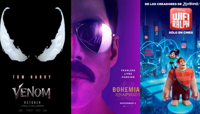 Los próximos estrenos en películas del 2018