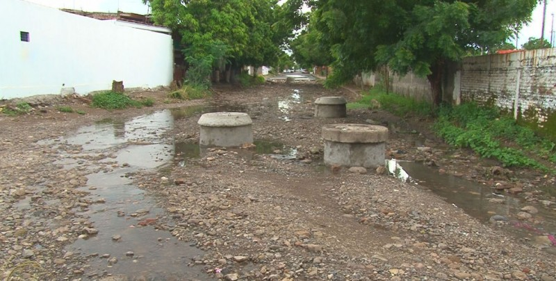 Problemas con el sistema de drenaje en la colonia Francisco Villa