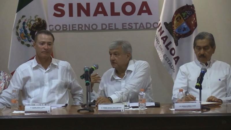 Anuncia AMLO programa para Sinaloa por más de 8 mil mdp
