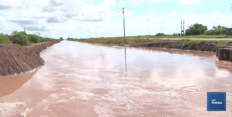 Mucha agua llevan los drenes en el Valle del Yaqui de Cajeme