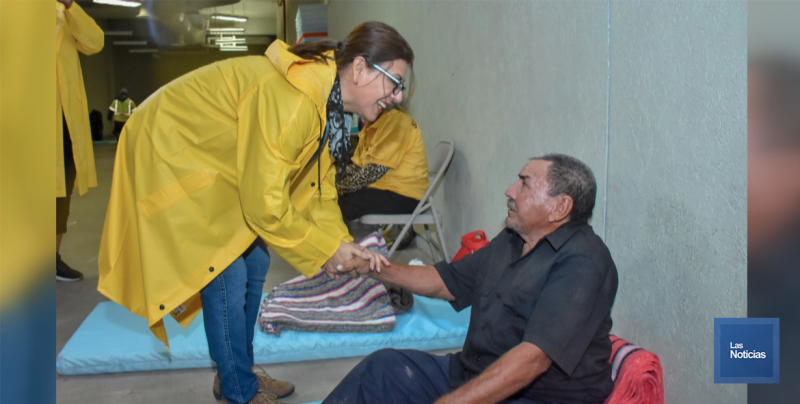 Brindó DIF apoyo a refugiados en albergues