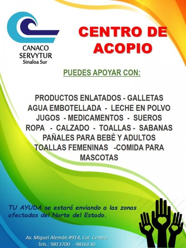 Abren centros de acopio en Mazatlán
