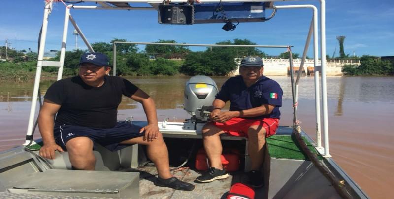Grupo de rescate acuático realiza recorridos en la Presa Derivadora