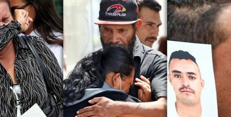 """Familiares de desaparecidos buscan a sus hijo en el """"tráiler de la muerte"""""""