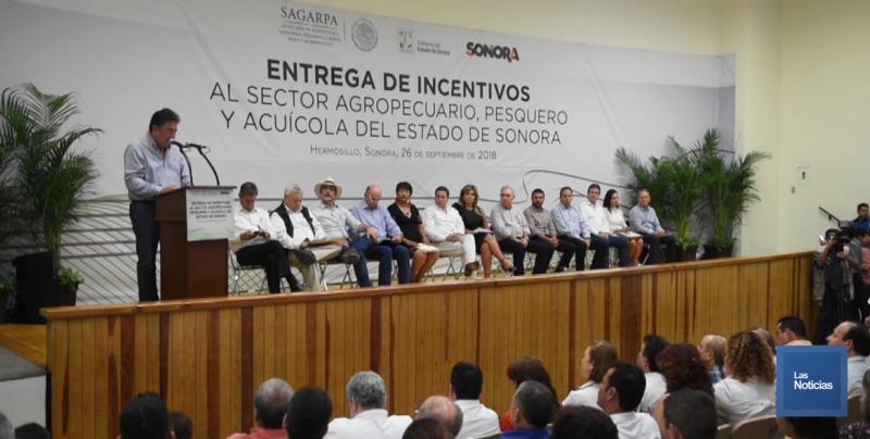 Productores de Sonora, recibieron estímulos del Gobierno Estatal y SAGARPA