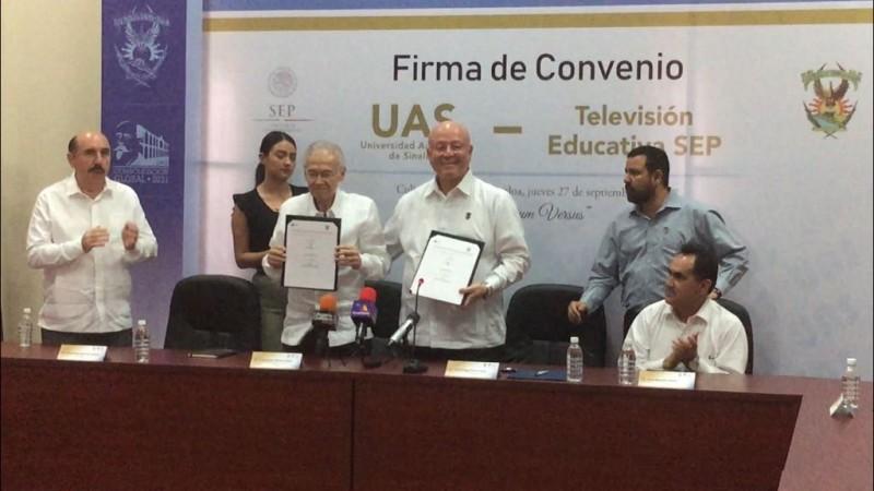 UAS y Televisión Educativa de la SEP firman convenio de colaboración
