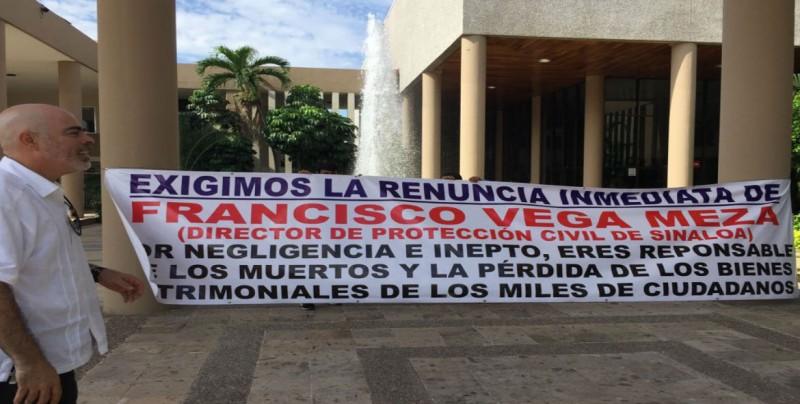 Exigen renuncia inmediata del titular de Protección Civil Sinaloa