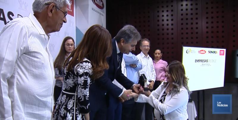 Constructoras de Sonora reciben reconocimientos como Empresas de 10 y Socialmente Responsables
