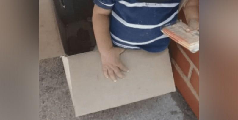 Abandonan a bebé dentro de una caja en Caracas