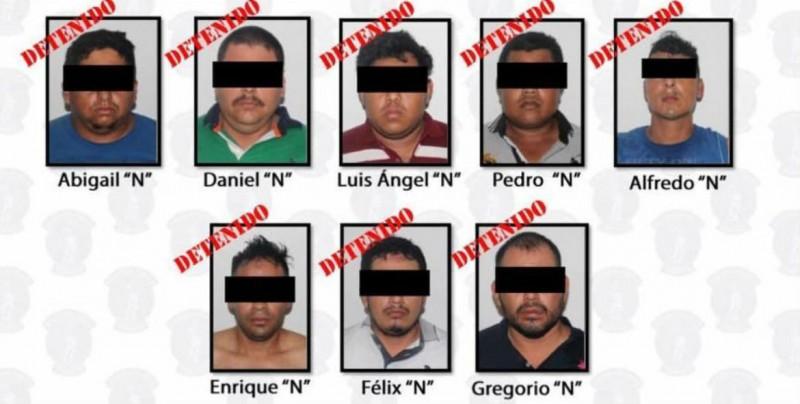 Detienen en Tabasco a 9 integrantes del CJNG