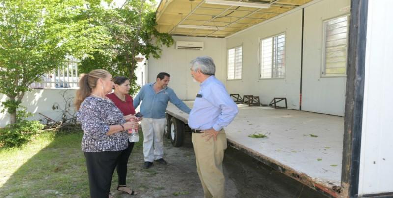 Instalan aulas móviles en la primaria Eustaquio Buelna