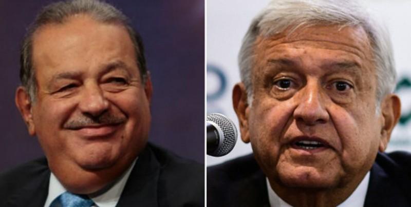 """López Obrador dice que Slim planteó """"hacerse cargo"""" de nuevo aeropuerto"""