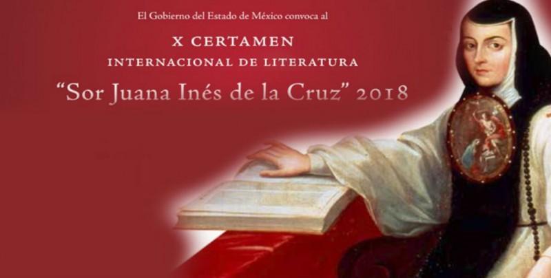 Convocan al Premio X Certamen de Literatura Sor Juana Inés de la Cruz 2018