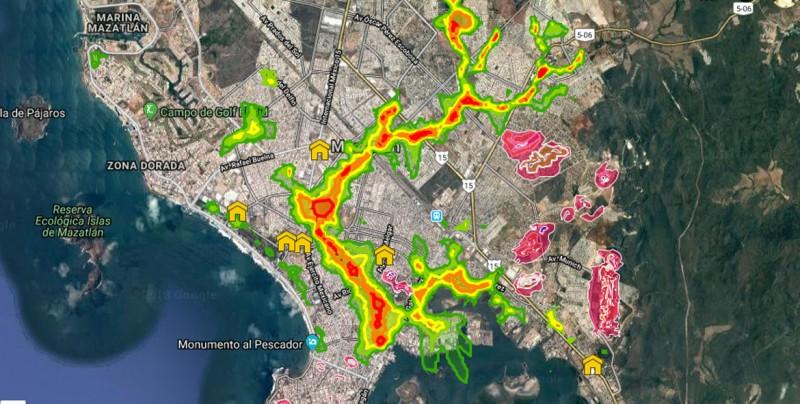 Estas colonias tienen mayor riesgo de inundaciones en Mazatlán