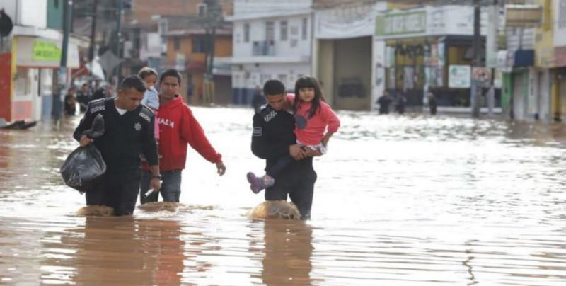 Activan Plan DN-III por lluvia e inundación en Morelia, Mich.
